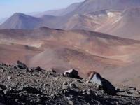South American volcano in Atacama region