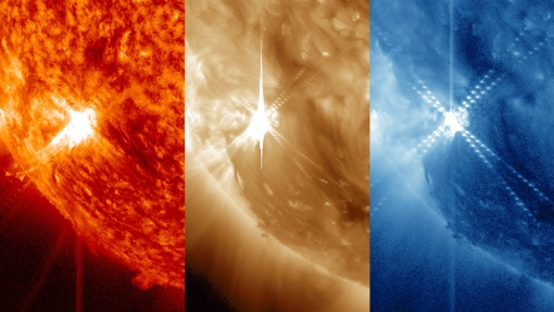 Photo of the day: mid-level flare on yesterday's Sun – solar