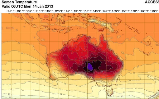heat wave Australia extreme weather forecast