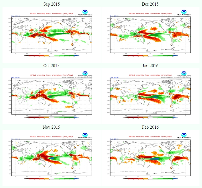 2015 El Niño: forecast climate weather effects