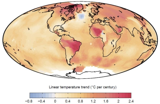 Global warming leads to local North Atlantic cooling over 20th century