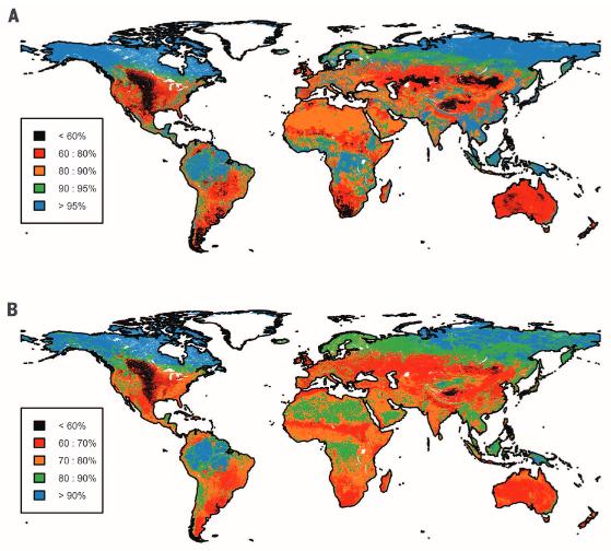 Regional biodiversity intactness