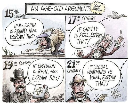Best cartoon ever about the evolution of (climate) science! Thank you Adam Zyglis!