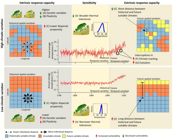 Temperate biodiversity complex response to climate change