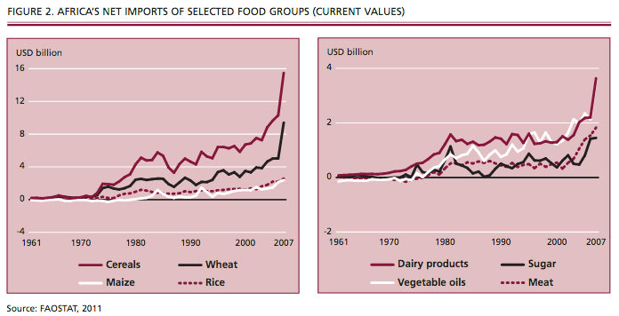 Climate & Agriculture 1: African food imports increase, while