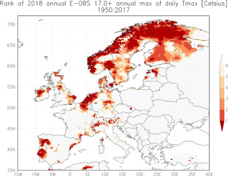 The European dry & hot summer of 2018: a northern heat wave