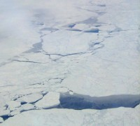 Cracks in the Arctic ice
