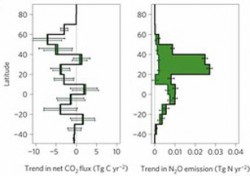 C02 flux and N2O emissions